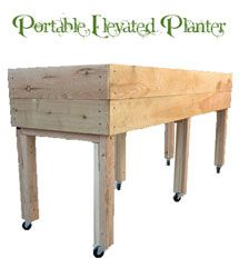 Living Green Planters – Portable Elevated Planter Box, Design Three