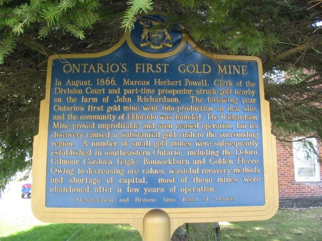 Where is Ontario's 1st gold mine found? Eldorado!