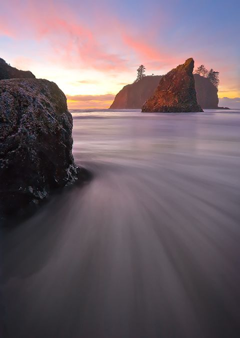 Ruby Beach, Olympic National Park, Washington State - One of the most beautiful spots along the Washington State Coast.