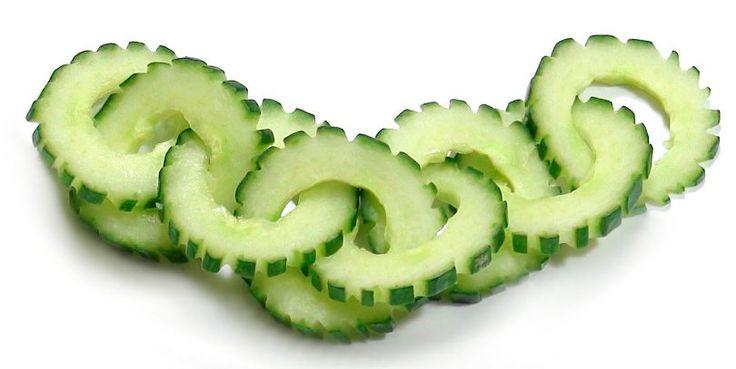 021. Free vegetable carving course cucumber chain / Darmowy kurs carvingu łańcuszek z ogórka