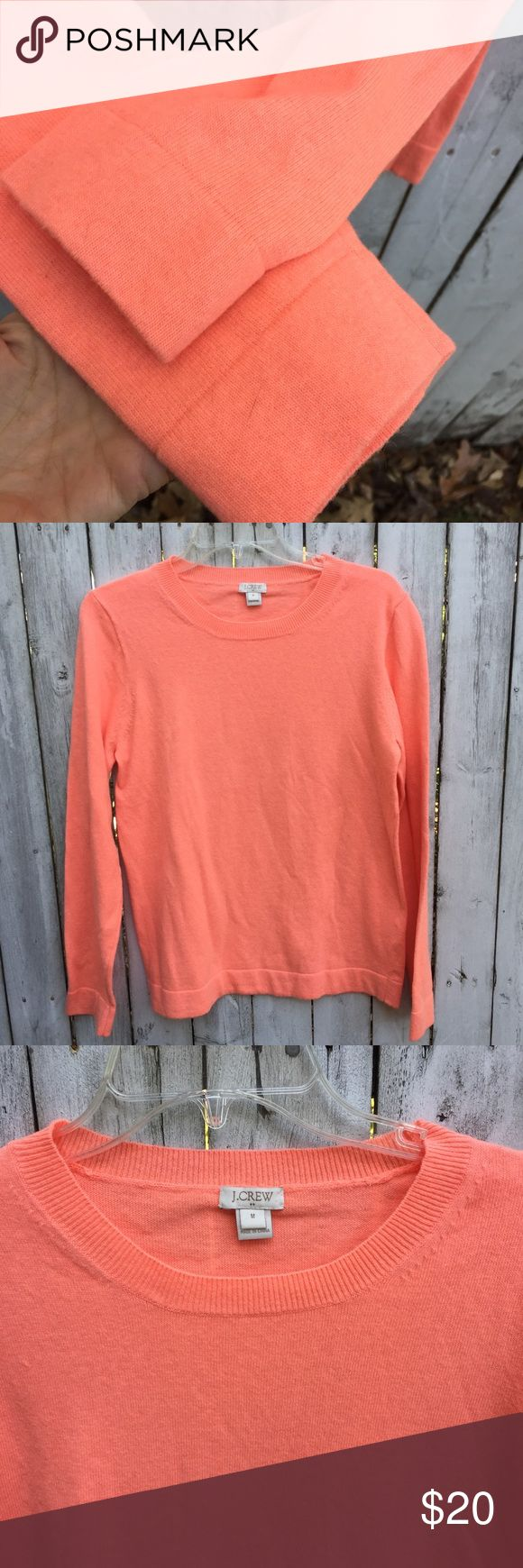 J crew Orange  women's crewneck sweater m J.Crew sweater crewneck women's size medium excellent condition sort of a orange sherbet or cantaloupe color Jcrew Sweaters Crew & Scoop Necks