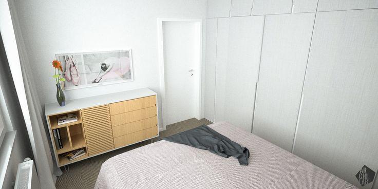 Návrh spálne - Interiér bytu Dibrovova, Stará Turá - Interiérový dizajn / Bedroom interior by Archilab