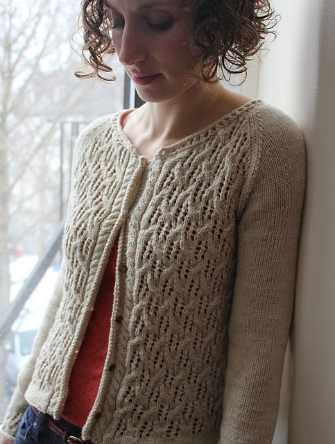 """Ravelry: Baileys Irish Cream pattern by Thea Colman   pattern is $6.50 and has sizes from 33"""" chest to 60"""" chest."""