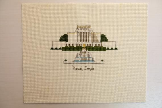 Indianapolis Indiana Temple LDS Cross Stitch Pattern PDF Digital Download