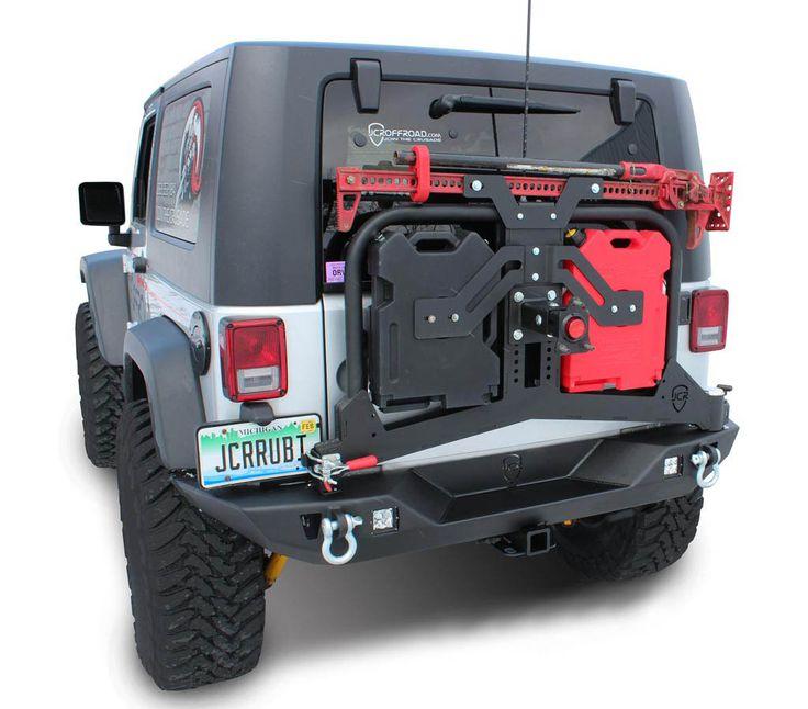 JcrOffroad: JcrOffroad Adventure Tire Carrier Rear Bumper Upper - Jeep Wrangler & Wrangler Unlimited JK (07-16)