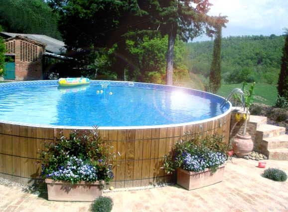 how to decorate around an above ground swimming pool - Pool Landscaping