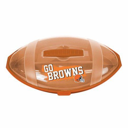 ***P95***NFL Browns Football Shape Divided Tray, Multicolor