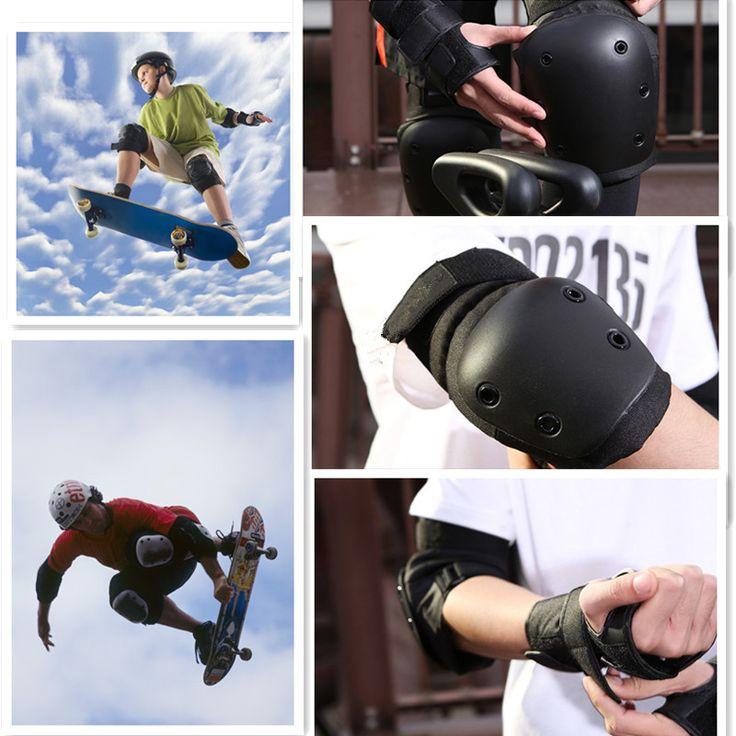 2017 New Roller Skates Skateboarding Skiing Wrist Knee Elbow Protector Set Adult&Kids KneePads Knee Pads Wrist Brace Kit