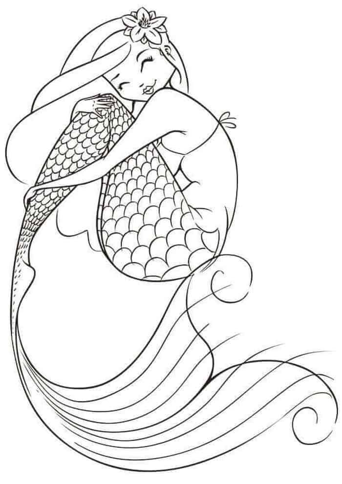 Mermaid Coloring Pages Printable With Images Mermaid Coloring