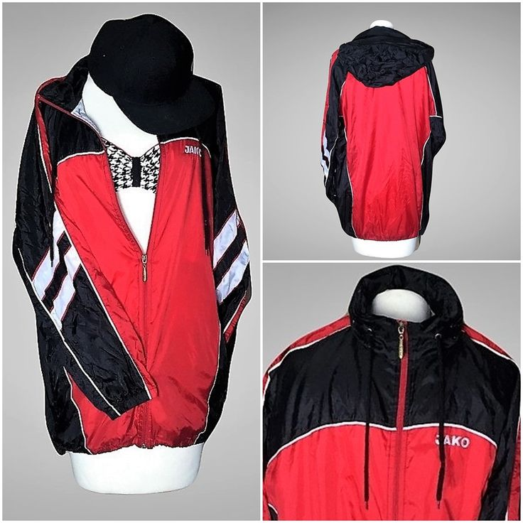 https://www.etsy.com/shop/MiauhausLook ◾ Vintage Windbreaker Multi Colour Retro Jako jacket ◾ Miauhaus Look sportswear ◾ 90's hip hop windbreaker ◾ Bomber Rain Jacket ◾ Vintage nylon rain jacket