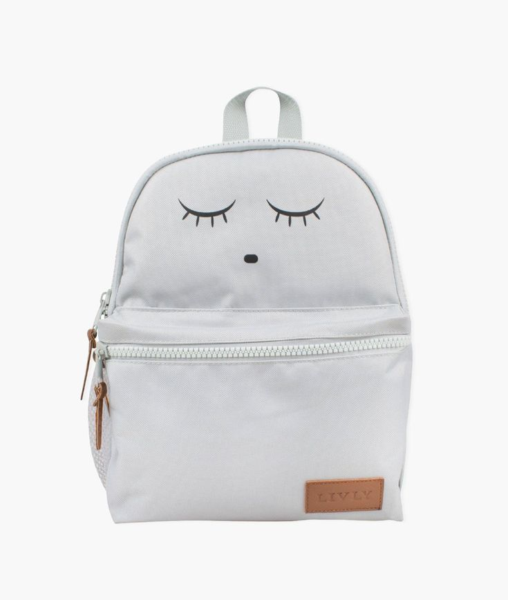 Great for back to school shopping, outings, playdates or traveling! Our Sleeping Cutie Backpack is durable and lightweight, with organized compartments designed to carry everything your little one needs for an exciting adventure: coloring books, pencils, stuffed animals, snacks and more. Long-lasting quality you can count on. Oversized zipper, durable fabric and large front pocket. Backpack is available in gray and pink.• Gray backpack with cute eyes design• Sturdy double-slide zippers•… Toddler Backpack, Grey Backpacks, Cute Eyes, Back To School Shopping, Backpacker, Other Accessories, Pink Grey, Leather Backpack, Coloring Books