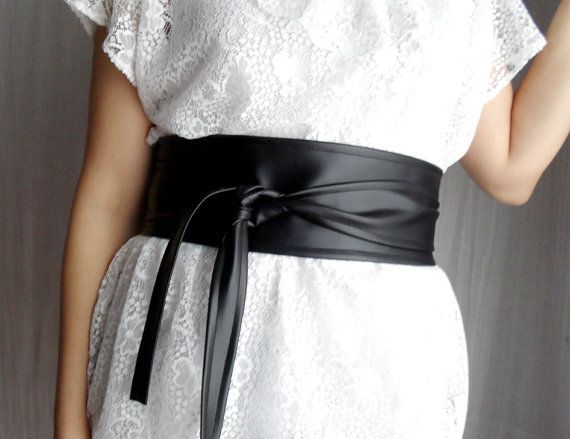 Black faux leather obi belt  Sizes SM  Spring by AliceCloset, €26.50