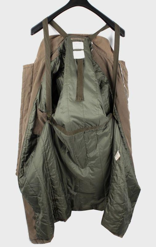 Visions of the Future // Helmut Lang Men Vintage Cotton Army Long Biker Jacket Coat Size 54 XL