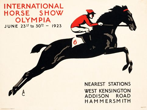 A.C. poster: International Horse Show - Olympia (1923)