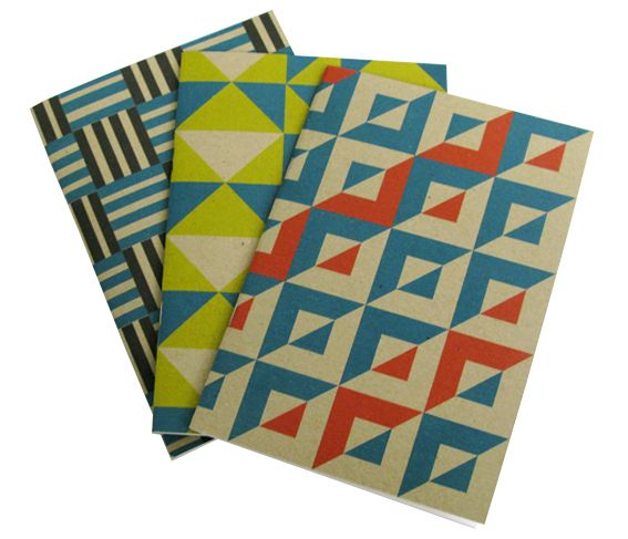 Here are the three designs of the A5 notebooks.
