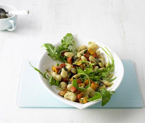 die besten 25 wei e bohnen salat ideen auf pinterest wei e bohnen gesund rezepte beilage. Black Bedroom Furniture Sets. Home Design Ideas