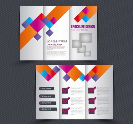 brochure trifold colorful template