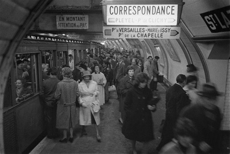 Métro Station Saint Lazare, Paris, René Jacques, 20e siècle, Médiathèque de l'Architecture et du Patrimoine, Paris
