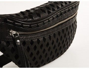 Black bumbag made in the coolest leather ever! Check out the danish brand Maanii for more.