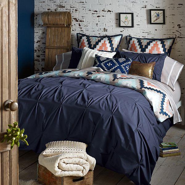 3 Hearts Style Studio Blog  Bed, Bath and Beyond Blissliving Home Harper Duvet Cover Set in Navy