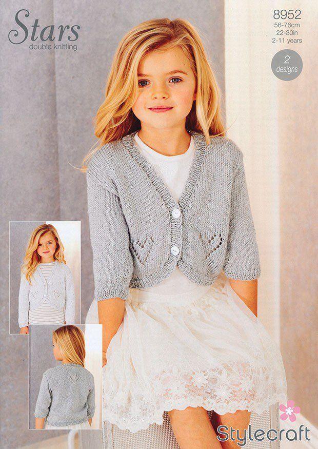 Cardigans in Stylecraft Stars DK (8952) | Girls Knitting Patterns | Knitting Patterns | Deramores