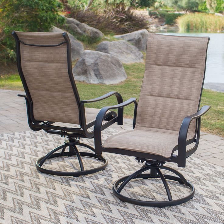 Coral Coast Wimberley Padded Sling Swivel/Rocker Dining