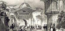Sublime porta -ublime porta (in turco Bab-ı Ali, in arabo باب عالی), ossia Porta Superiore o Suprema, o anche Porta ottomana, è un'architettura nei pressi del Topkapi, a Costantinopoli (l'attuale Istanbul). L'espressione, per antonomasia, viene usata anche per indicare il governo dell'Impero ottomano. Wikipedia