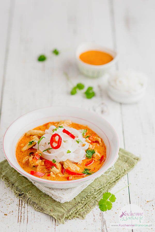 Zupa Tajska Z Makaronem Ryzowym Kuchenne Wariacje Sezonowo Bezglutenowo Cooking Recipes Food And Drink Food