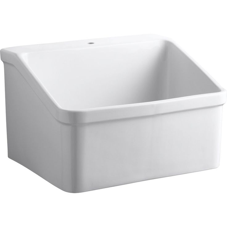 Wall Hung Laundry Tub : Shop KOHLER White Vitreous China Laundry Sink at Lowes.com