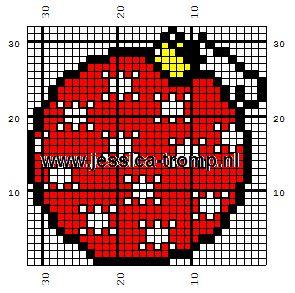Pixel Art Boule De Noel Facile