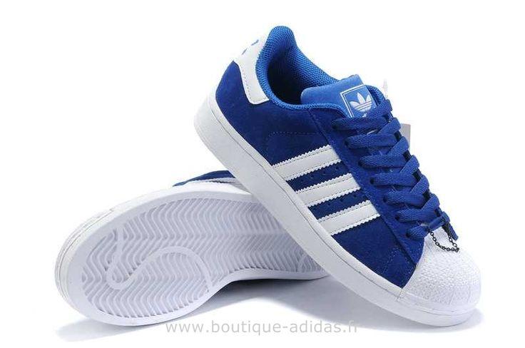 Hommes Profonde Adidas Blanc Bleu Superstar II Adidas Superstar 2G
