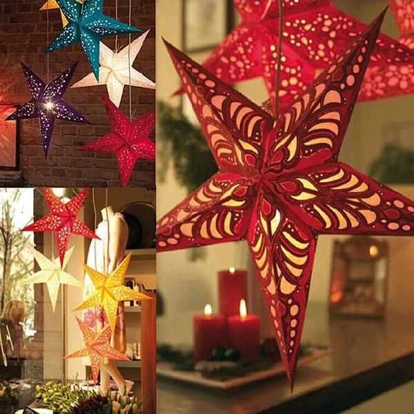 Christmas Decoration Duplex Laser Christmas Paper Pentagram Bar Ceiling Decoration Colorful Stars Paper Lampshade Party Supplies 5 Size Discount Christmas Decorations Outdoor Discount Christmas Ornaments From Mybaby, $13.41| Dhgate.Com