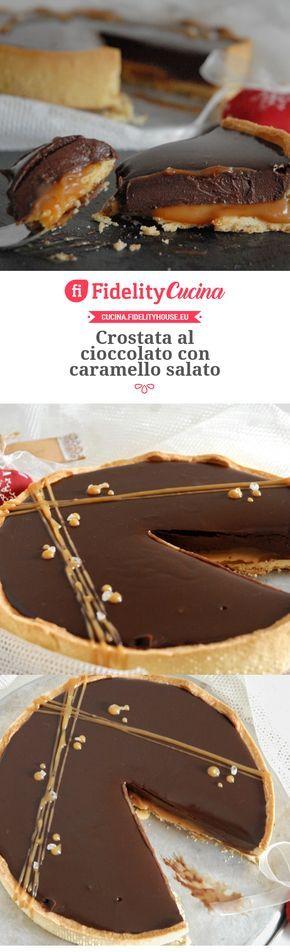 Crostata al cioccolato con caramello salato