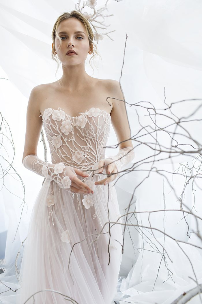 Floral - Graceful Vine and Flower Wedding Dress from Mira Zwillinger | http://heyweddinglady.com/mira-zwillinger-wedding-dress-collection-spring-2017/