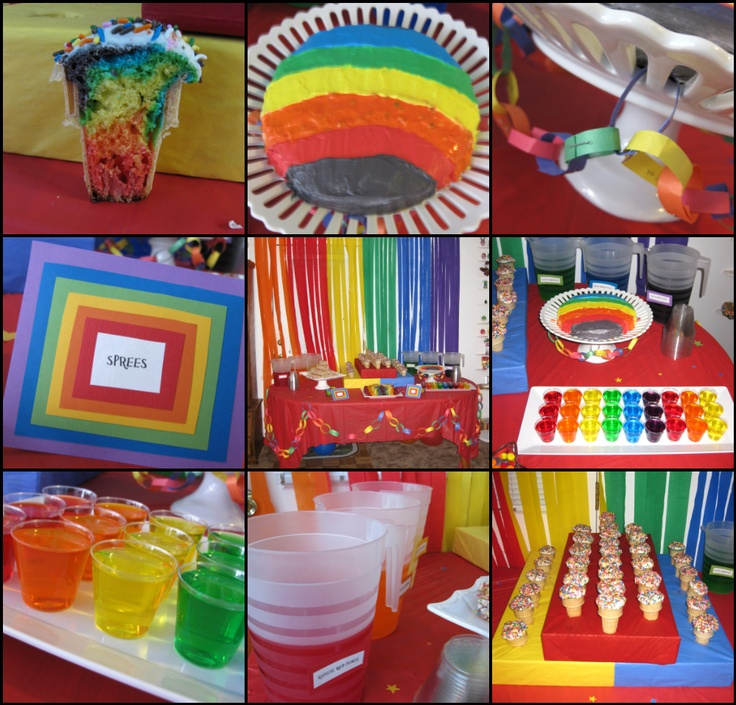 Tie dye cupcakes, Jello cups and Fruit trays on Pinterest
