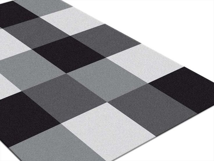Patterned rectangular rug OPERA CHECKER - ABC ITALIA