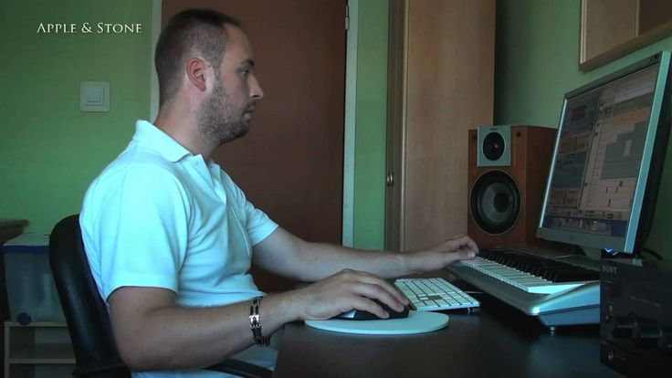 """Video showing how Apple & Stone in home studio is working on music - """"Comp City"""". It was in early 2008. Working on some music using Mac Mini, software Reason 4 & M-Audio."""