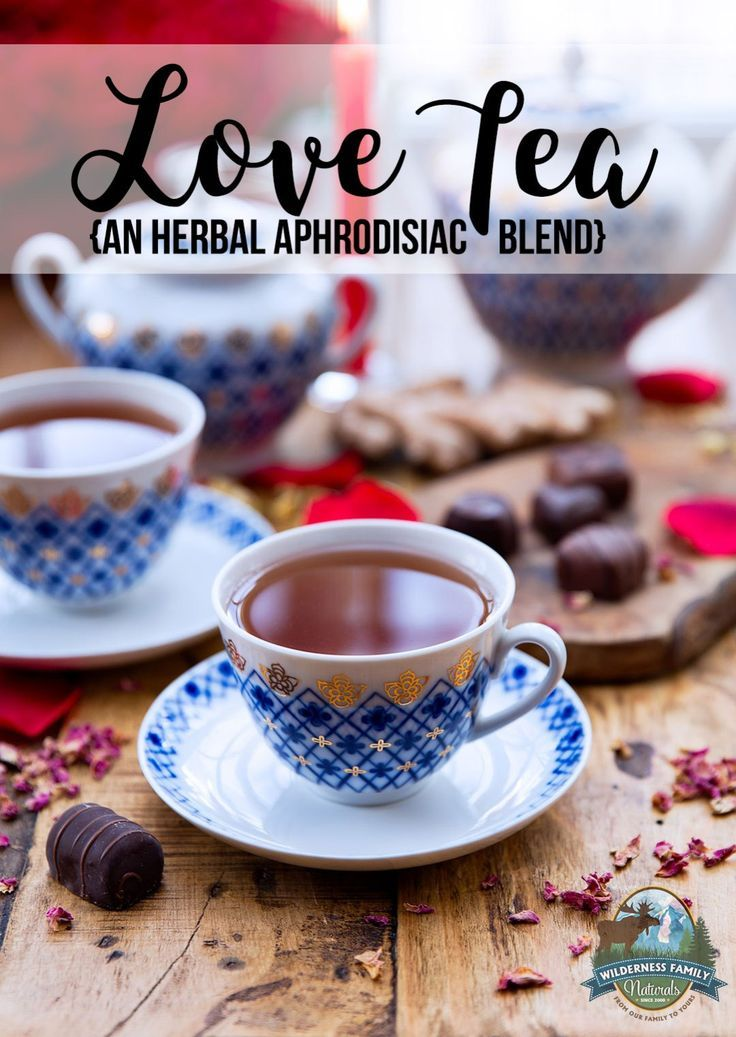Love Tea (an herbal aphrodisiac blend) | Use this tasty herbal tea to help you relax and potentially increase libido. The herbs in this love tea blend have traditional aphrodisiac use while also being quite tasty. This herbal aphrodisiac blend can be made in a hurry, too -- for those unexpected moments of alone time. | WildernessFamilyNaturals.com
