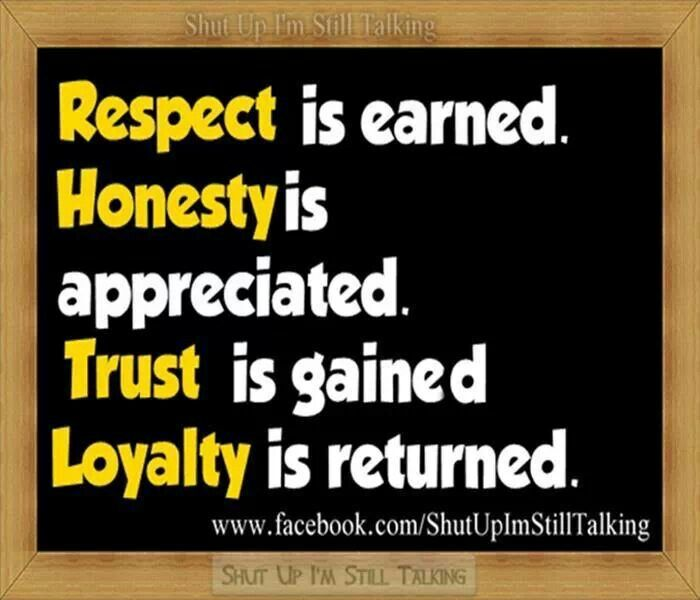 Truth And Trust Quotes: Quotes About Respect And Honesty. QuotesGram
