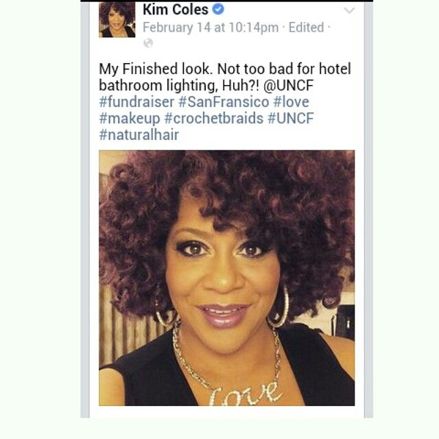 When Kim Coles is wearing #crochetbraids #crochetweave  and it appears she's wearing  my techinque. #gamechanger