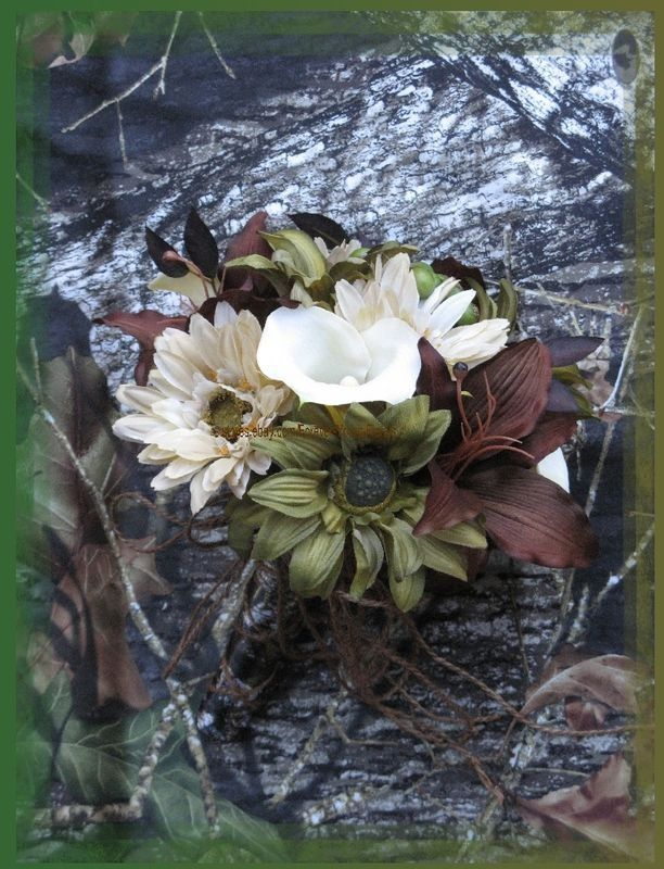 Camo Centerpieces for a Wedding | Camo Bouquet | Wedding Day Ideas:)
