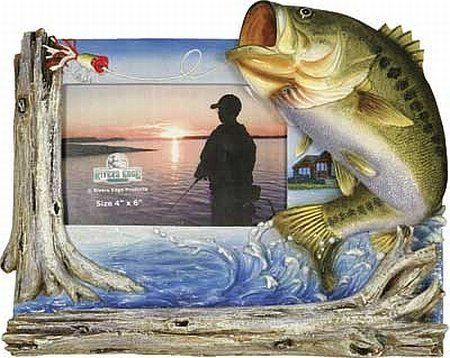 """Rivers Edge Bass Fishing Picture Frame - Holds 4"""" X 6"""" photo by River's Edge, http://www.amazon.com/dp/B0014432JM/ref=cm_sw_r_pi_dp_5Ogasb14TKE1Y"""