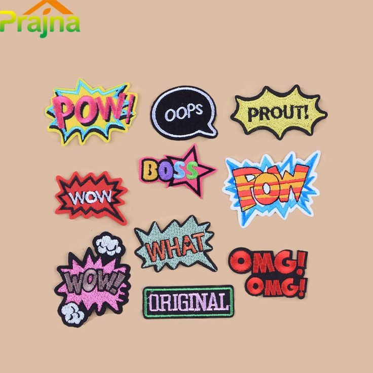Cheap patch iron on, Buy Quality iron on directly from China patch iron Suppliers: Prajna WOW Letter Patch Set Cartoon Cheap Embroidered Cute Patches Iron On Cool Patches For Clothes Badges Applique Stickers B2