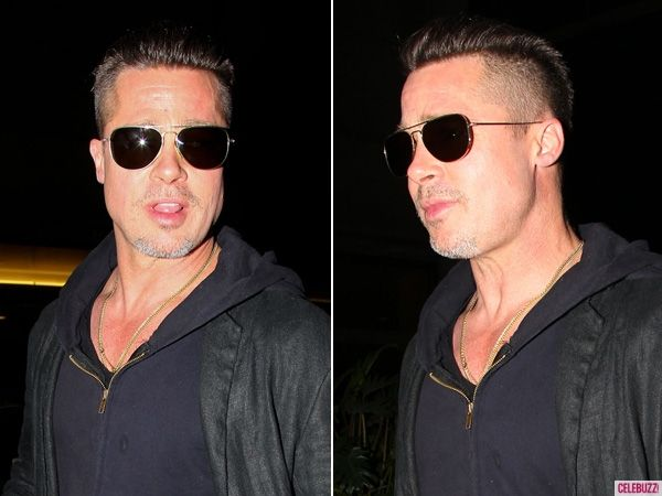 Brad Pitt's hair 2014. I like it.