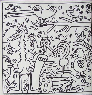 Bovenbouw: de kinderen verzinnen dieren en zij tekenen deze strak langs elkaar.