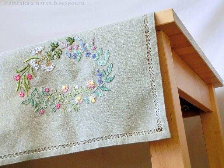 Старá каламáрка: Японская вышивка Учусь вышивать по японским книгам. Дизайн Sadako Totsuka.