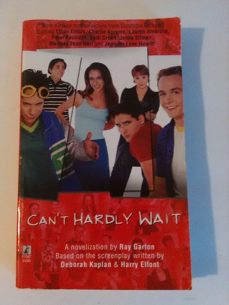 Can't Hardly Wait Book Adapted from the Movie by Ray Garton RARE !!
