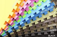 "5/8"" Soft Tiles – Interlocking EVA Foam Tiles $1.45/sft - 8 colors!"