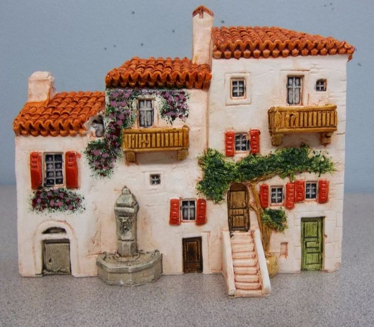 J CARLTON DOMINIQUE GAULT MINIATURE Building Villa House 210234 CR