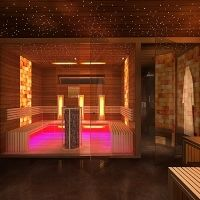 Infrared sauna and finnish sauna wellness at home